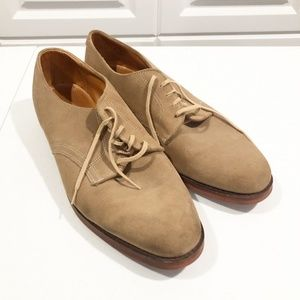 Cole Haan | Tan Suede Oxford Shoes